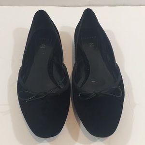 Unützer   Velvet Slip On Flat Shoes